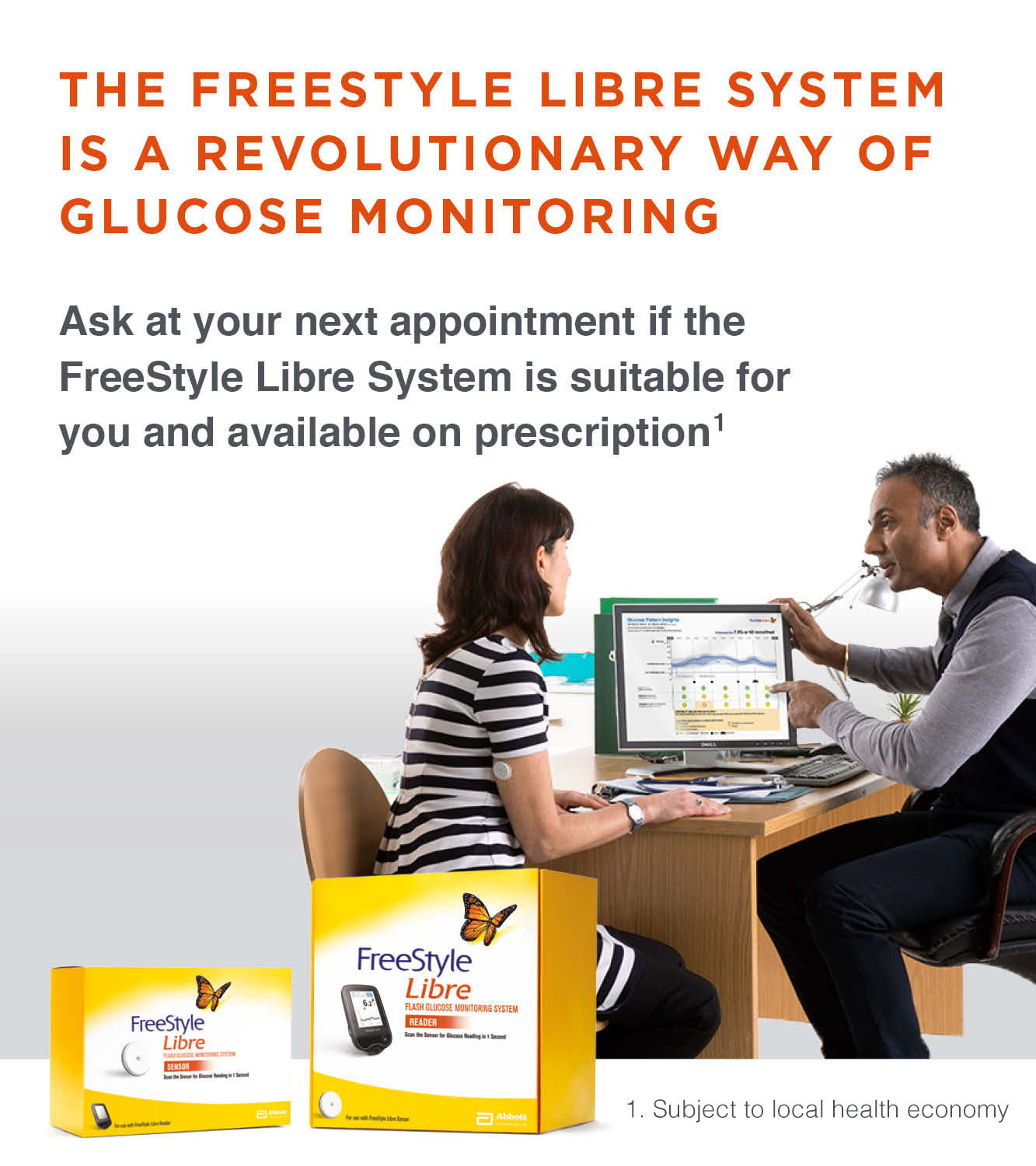 Freestyle Libre Glucose Monitoring System Diabetes Care
