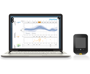 Freestyle Libre system and LibreView - Blood glucose data